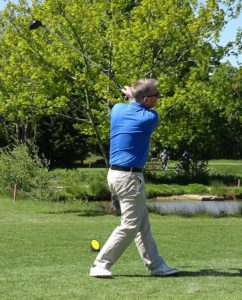 Bob playing golf